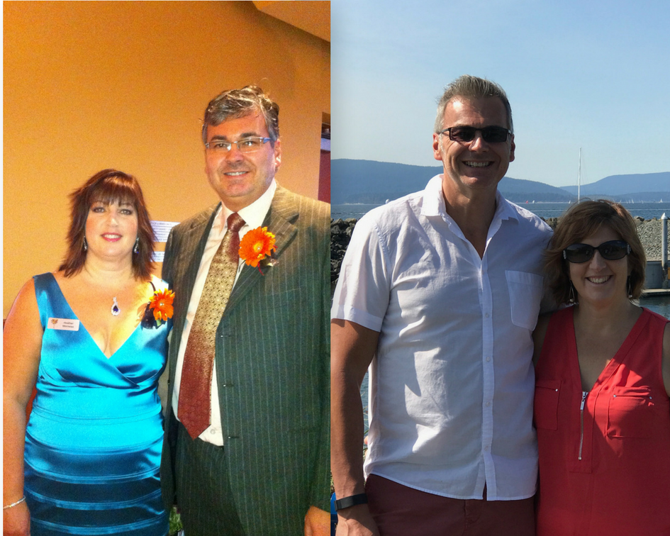 The Best Way to Lose Weight Q4fit.com Heather Morneau Doug Morneau before and after picture